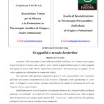 """Primo annuncio seminari 2016 """"Gruppalità e mondo borderline"""""""